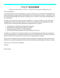 sample cover letter for director position leading professional technical project manager cover letter