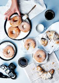 weekend notes croissant donuts and food photography