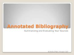 annotated bibliographic citation Sample
