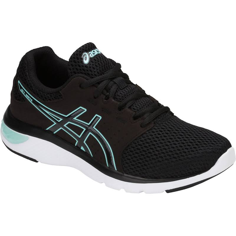 Asics Gel-Moya Black / Aruba Blue Ankle-High Running Shoe 11M