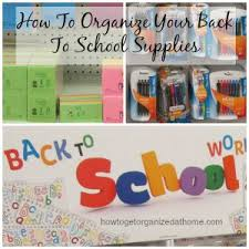kids organization how to organize your back to supplies