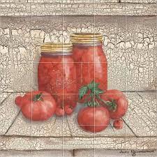 Kitchen Backsplash Mural Stone by Farm Country Rustic Tomatoes Kitchen Backsplash Tile Murals