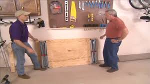 Plans For Building A Wooden Workbench by How To Build A Simple Folding Workbench Today U0027s Homeowner