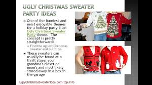 ugly christmas sweater party ideas youtube