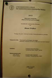 Masters completed    Institutt for biovitenskap