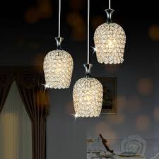 dinggu modern 3 lights crystal pendant lighting for kitchen