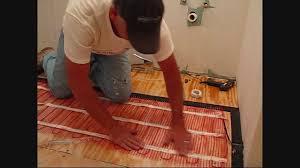 heated floors under laminate install warmup electric floor heating mat using edge strip kits