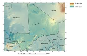 Map Of Mali Africa by Ecoregions And Topography Of Mali West Africa