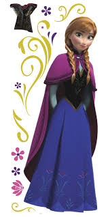 12 best disney s frozen wall decals murals images on pinterest frozen anna with cape peel stick wall stickers 1000