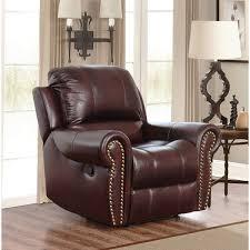 abbyson broadway premium top grain leather reclining reclining