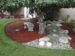 Small Rock Garden Pictures by Landscaping Around Trees Garden Ideas