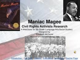 Maniac Magee Power Point Novel Study Pre Reading Activity
