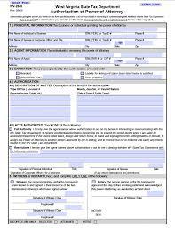 Power Of Attorney Pdf Form by Free Tax Power Of Attorney West Virginia Form U2013 Adobe Pdf