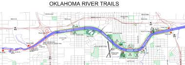 Oklahoma City Map Ride River Trail Oklahoma Bicycle Society