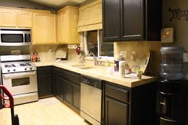 interesting chocolate brown painted kitchen cabinets image of