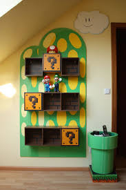 Super Mario Home Decor by Kids Video Game Themed Rooms Mario Toy Boxes And Room