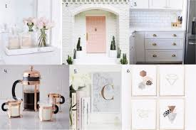 fancy finds blush copper and marble home decor within the grove