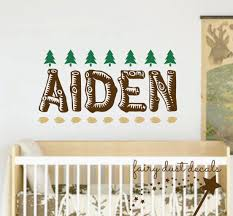 Tree Decal For Nursery Wall by Name Wall Decal Vinyl Boy Name Nursery Wall Decal Woodland