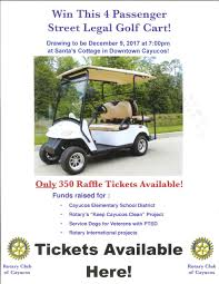 3rd golf cart raffle rotary club of cayucos seaside