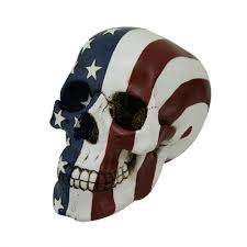 Rebel Flag Home Decor by Stars And Stripes Flag Skull Statue 7 Inch Skull Statue Gothic