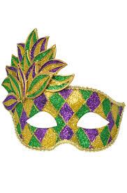 mardi gras leaf mask purecostumes com