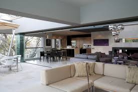 gorgeous kitchen and living room design with home interior living
