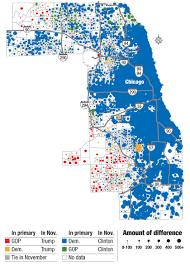 North Shore Chicago Map by Mapping The Suburban Vote For Trump Clinton