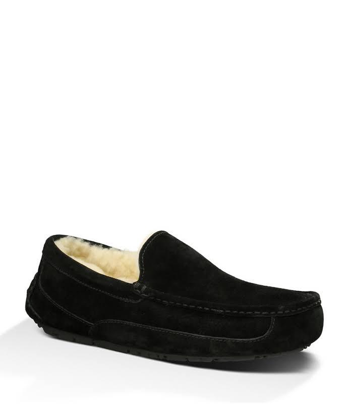 UGG Australia Ascot Moccasin Black Slippers 1101110-BLK