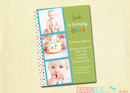 1st Year Baby Birthday Invitation Cards Boys Birthday Invitation Rainbow Polka Dots 1st 2nd 3rd