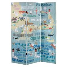 cape cod map tri panel room divider christmas tree shops andthat
