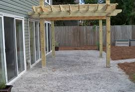 Backyard Cement Patio Ideas by Va Beach Concrete Patios Photo On Amazing Backyard Stamped