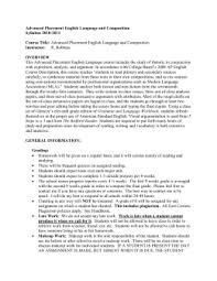 Advanced Placement English Language and Composition studylib net