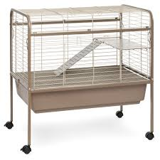 prevue pet jumbo tubby rabbit cage on stand with blue tub hayneedle