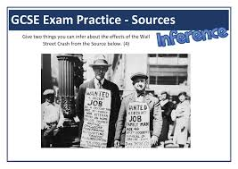 Wall St Crash GCSE Exam Practice Inference Question