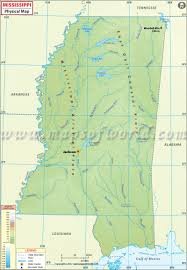Blank Physical Map Of Russia by Physical Map Of Mississippi Mississippi Physical Map