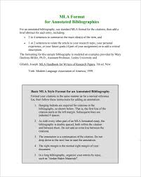 MLA Annotated Bibliographies Examples