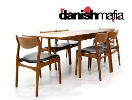 Teak Dining Room Table And Chairs by Mid Century Danish Modern Teak Dining Table U0026 Chair Set Danish Mafia