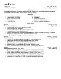 qualifications for a resume examples best busser resume example livecareer busser job seeking tips