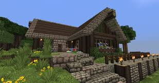 minecraft l shaped rustic house tutorial youtube