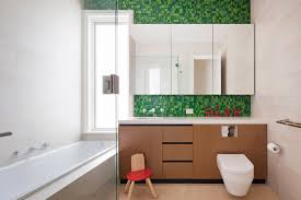 Green Tile Backsplash by Wall Mount Toilet Bathroom Contemporary With Straight Lines Green