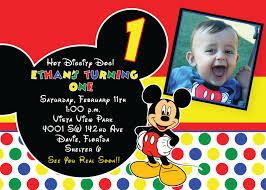 Birthday Invitation Cards Models Mickey Mouse Birthday Invitations Themesflip Com
