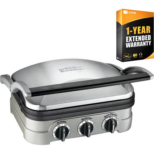 Cuisinart Multifunctional Griddle, Grill and Panini Press + 1 Year Warranty