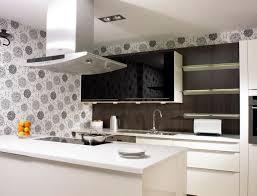 kitchen countertop materials copper backsplash on stove black