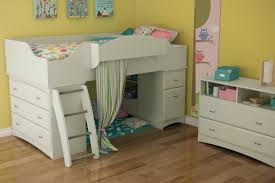 bedroom natural wood pottery barn loft bed with drawers and
