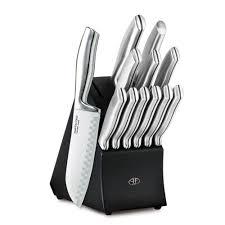 Kitchen Knive Sets Hampton Forge Kobe 13 Piece Stainless Steel Knife Set With Black