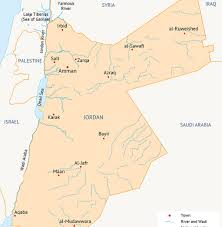 Jordan Country Map Water In The Middle East And North Africa Fanack Water