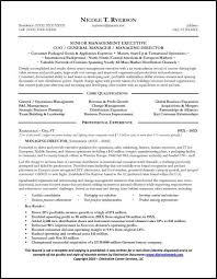 Sample Resume For Senior Manager by Sales Manager Resume U0026 General Manager Resume