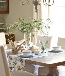 Dining Table Centerpiece Dining Room Interesting Dining Room Decoration With Bamboo Leave