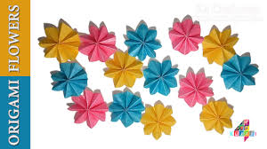 Flowers Home Decoration Diy Simple Origami Paper Flowers Easy Wall Home Decoration
