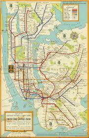 Mta Info Subway Map by 1948 Large New York City Subway Map Mta Manhattan Brooklyn Art